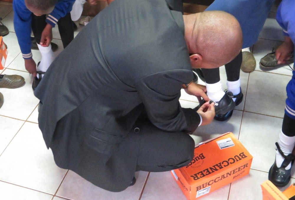 Local authority donates shoes to two (2) schools in Ezulwini